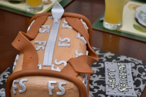 Zipper designer cake